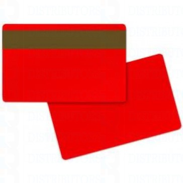 PVC BLANK CARD-CR80 30 Mil LoCo RED - Pack of 500