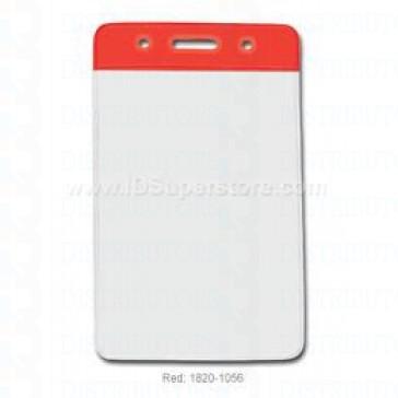 Color-Coded Vertical Badge Holder W/Color Frame - Red - Pack of 100