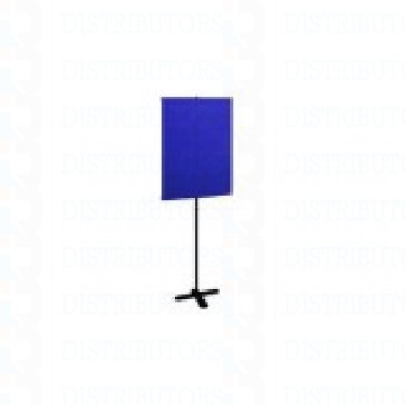 "Standard Backdrop with Stand- Cloth Backdrop, 34"" X 28"", Royal Blue"