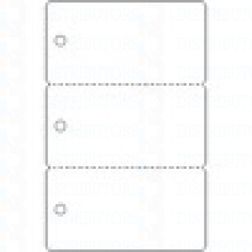PVC-BLANKCARD-KEYTAG- 3 Up with Holes CR80 30 Mil - Pack of 100