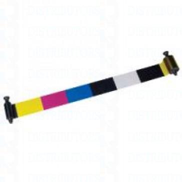 6 Panel Color Ribbon- YMCKOK 500 Cards/Roll