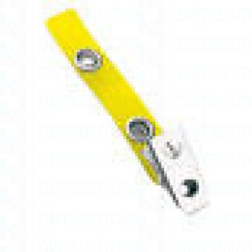 Strap-Clip-Color-Vinyl- W-/-Metal-Bulldog-Clip-Yellow-Pack-of-100