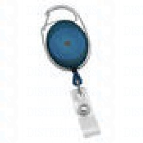 Badge Reel - No - Twist Carabiner - Blue 100 per pack