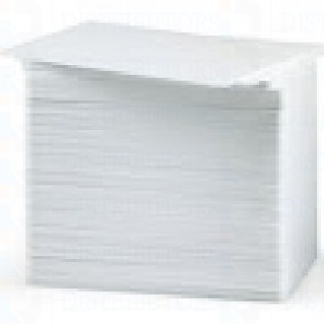 Zebra 104524-121 White Composite Cards, 30 Mil Diamond Design (500 Cards)