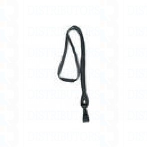 Premium Round Cord w Breakaway, Quick Release, Plastic Hook - Black Pack of 100