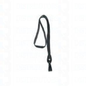 Premium Round Cord w Breakaway, Quick Release, Plastic Hook - Black Pack of 100