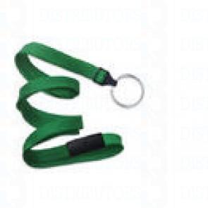 Breakaway Lanyard w Split Ring - Green Pack of 100