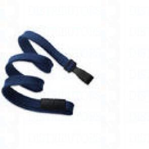 Breakaway Lanyard w Plastic Hook - Navy Pack of 100