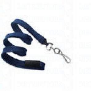 Breakaway Lanyard w Swivel Hook - Navy Pack of 100