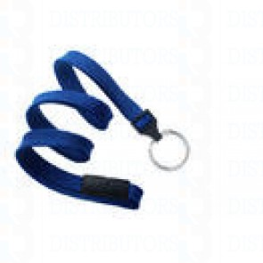 Breakaway Lanyard w Split Ring-Royal Blue Pack of 100