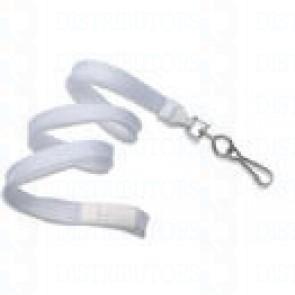 Breakaway Lanyard w Swivel Hook - White Pack of 100