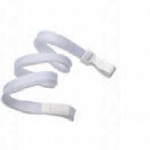 Breakaway Lanyard w Plastic Hook - White Pack of 100