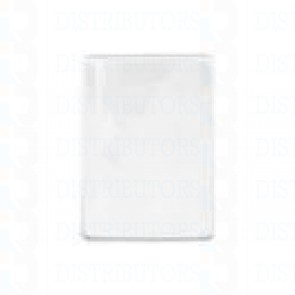 Clear/Matte Vinyl Badge Holder Vertical/Top Load W/ Slot/Chain Holes Govt/Mil Size -Pack of 100