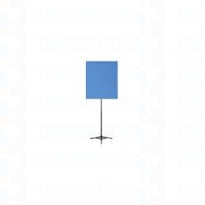 """Standard Reversable Backdrop with Stand- Cloth Backdrop, 34"""" X 28"""", White/Lt Blue"""