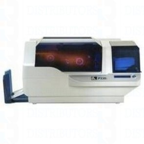 Zebra P330i single-sided color card printer with USB and Ethernet connectivity and reversemagnetic encoder
